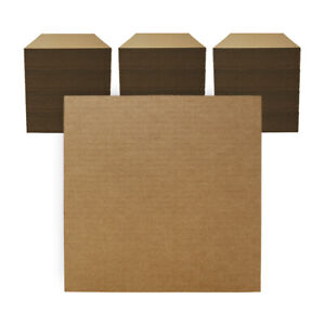 """300 - 12"""" x 12"""" Corrugated Cardboard Pads/Inserts/Sheets 32 ECT Made in USA"""