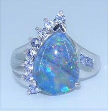 Bella Luce Opal Australian Triplet .53ctw Tanzanite Sterling Silver Ring sz 7.25