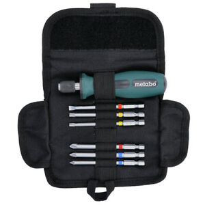 Metabo 626723000 7 Piece Bit Set in Roll Up Case