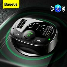 More details for baseus wireless car kit fm transmitter bluetooth radio mp3 player usb charger uk