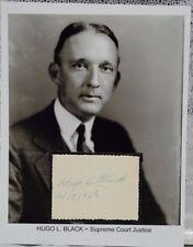 Hugo Black Autograph Senator Alabama Supreme Court KKK Ku Klux Klan Judge #2
