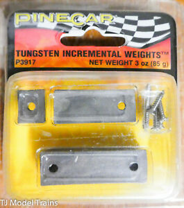 Woodland #3917 PineCar Accessories -- Tungsten Incremental Plate Weights 3oz 85g