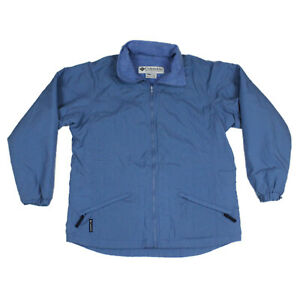 Columbia Ski Snow Jacket Winter Coat Light Blue Nylon Fleece Lined Womens Medium