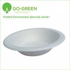 125pcs Disposable Bowls Eco-Friendly Sugarcane Fiber 16oz Microwave Safe