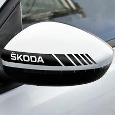 2x Rückspiegel Streifen Skoda Autoaufkleber Decal Tuning Shocker Sticker