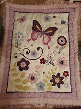 6 Piece Purple Butterfly Baby Crib Set