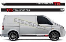 VW Volkswagen Transporter 017 T4 T5 de Gráficos Pegatinas Rayas caravanas Racing