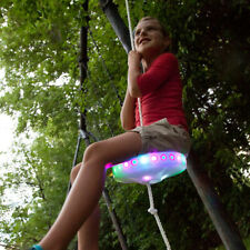 5Kids Slackers Swing Seat Glowing Night Riderz Led Disc Flying Saucer Swing Set