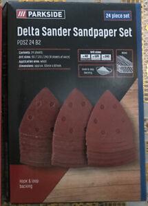 PARKSIDE Delta Sander Sandpaper Set PDSZ 24 B2 Replacement Refill Pads 24 Pad