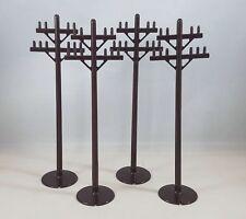"Lot 4 Marx Telephone Poles for Model Train Set O Scale 7"""