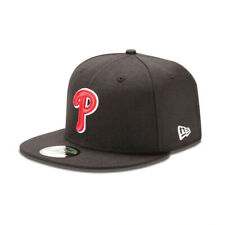 Philadelphia Phillies MLB New Era 59FIFTY Fitted Hat - Black/Red