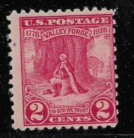 US Scott #645, Single 1928 Washington at Prayer 2c FVF MNH