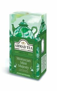 Ahmad Moroccan Mint Majesty 5 Boxes of 15 Tea Bags   Free UK Delivery