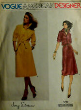 Vtg 1980 FF Uncut Vogue American Designer Jerry Silverman Dress 1717 Bust 31 1/2