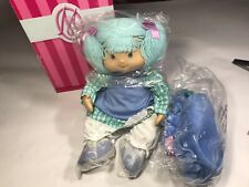 """Marie Osmond Porcelain Blueberry Muffin Toddler size Doll New In Box 12""""inch"""