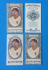 2017  Allen & Ginter MINI . MARK McGWIRE . GOLD , BLACK, A & G , Reg . CARDINALS