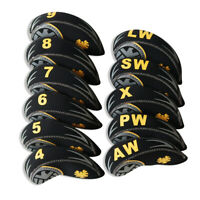 11PCS Golf Iron Headcovers for Callaway Rogue Club Head Covers 4-LW Black Yellow