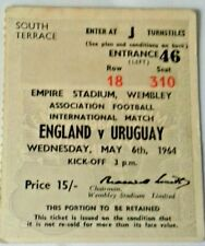 More details for england v uruguay international match ticket wednesday may 6th 1964 wembley.