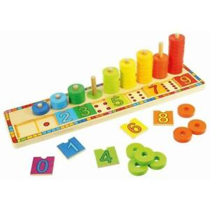 Bigjigs Toys - Learn to Count Wooden Peg Computer