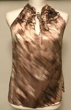 Kenar Brown And Pink Silk Top Size Small (S)