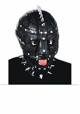 Maniac Gimp Halloween Fancy Dress Face Mask With Spikes Dominatrix Sadomasochist