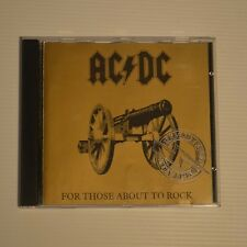 AC/DC - FOR THOSE ABOUT TO ROCK - 1995 AUSTRALIAN REMASTERED CD PICTURE DISC