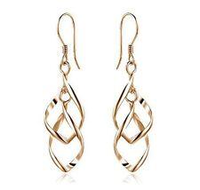 Damen Ohrhänger Ohrringe 6 cm lang Gold farbige  Weihnachten Geschenkidee !