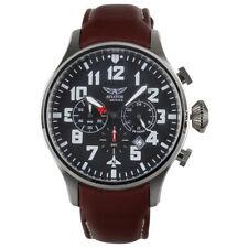 Aviator XL Herren Leder Armbanduhr F-Series Quarz Analog AVW1267G145