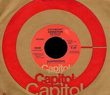 "RASPBERRIES ""OVERNIGHT SENSATION/Hands On..."" CAPITOL 3946 (1974) 45 ERIC CARMEN"