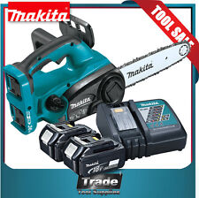 Makita Chainsaw 18v LXT Cordless + 2x 5.0Ah Batteries & Charger XCU02