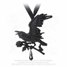 Harbinger Pendant/Choker - Alchemy Gothic Raven/Rose Jewellery P739
