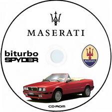 Maserati Biturbo Spyder.Catalogo Ricambi.Spare Parts Maserati biturbo spyder
