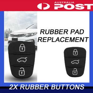 2PCS For Hyundai i30 i20 Elantra 3 Button Flip Key Replacement Remote Rubber Pad
