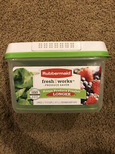 Rubbermaid FreshWorks Produce Saver Food Storage Container, Large, 17.3 Cup NEW