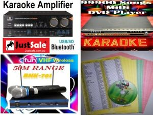 New 99900 English Tagalog Songs MIDI Karaoke DVD Player with VHF MIC & Amplifier