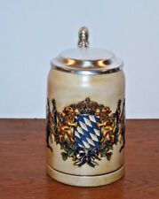 DECORATIVE LIDDED STEIN---MULTICOLOR COAT OF ARMS