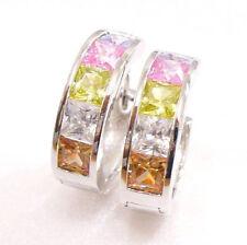 Cubic Zirconia Enamel Fashion Earrings