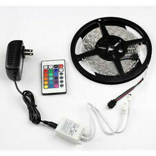 Non-waterproof RGB 300Leds 5M 3528 LED Strip Light +24-keys Remote + DC12V Power