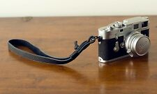 Zhou OneKnot Wrist black leather Strap For Leica Nikon Zeiss