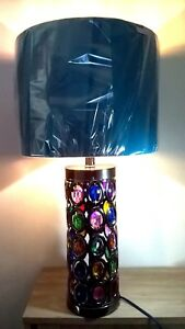 Moroccan Turkish Lamps Coloured Glass Jewelled Metal Morrocan Desk Table Lamp