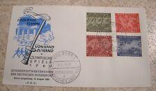 Bund 1960 FDC (Ersttagsbrief) Mi. 332-335 Olympische Spiele