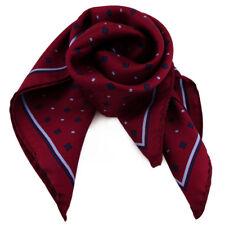 Damen Nickituch in Seide rot blau dunkelblau 53 x 53 - Tuch Halstuch Schal