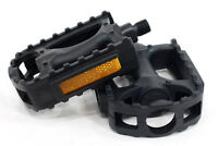 "SUNLITE MOUNTAIN MTB ATB BICYCLE BIKE PEDALS NYLON CAGE1/2"" PAIR NEW"