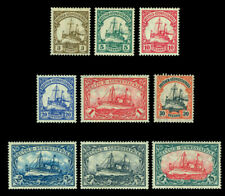 German Colonies -SOUTH WEST AFRICA 1906-19 Kaiser's YACHT set Sc# 26-34 mint MH