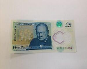 BIG BEN MISSING £5 polymer NOTE VERY RARE AK50 000882