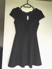 Black Dress With Lace Neckline From Showpo Size 8