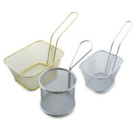 3Type Stainless Steel French Fries Mesh Fryer Basket Holder Kitchen Cooking Tool