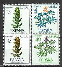 SAHARA edifil # 256/259 ** MNH set Flores / Flowers