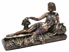Veronese Bronze Figurine Art Deco Style Egyptian Queen Cleopatra lying on bed