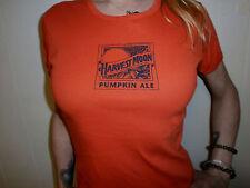 HARVEST MOON PUMPKIN ALE T SHIRT Blue Craft Beer Bartender Womens Orange